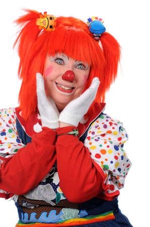 Portrait of happy clown photo