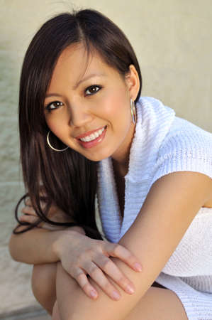 Portrait of beautiful young Asian american Stock Photo - 7795111