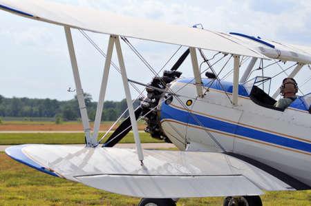 Vintage PT-17 biplane ready for take-off Stock Photo - 7795104