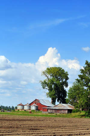 Farm in the country during a bright day photo
