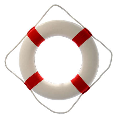 lifesaver: Lifesaver isolated over a white background