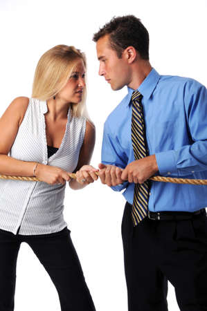 Battle of the sexes in the business world Stock Photo - 7795102