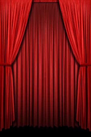 垂直方向の形式で赤いカーテン