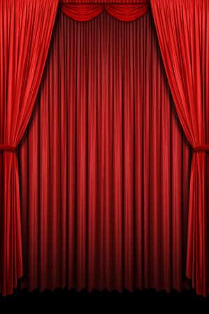 Cortina Roja etapa con arco de entrada