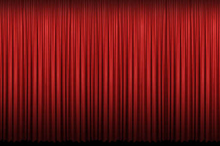 Red curtain with light and shadows