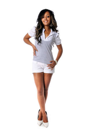 Smiling African American womans standing Stock Photo - 7803739