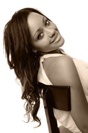 womna: Beautiful African American womna smiling