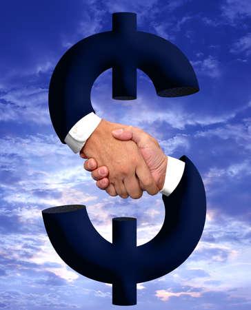 Handshake and money sign Zdjęcie Seryjne