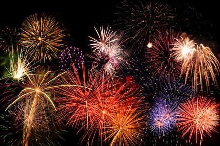 extra large: Multicolor fireworks - Extra LARGE size Stock Photo