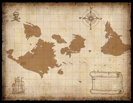 Old Treasure map Foto de archivo