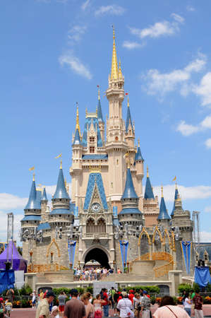 disney: Castle at Disney World in Orlando, Florida during a sunny day Editorial