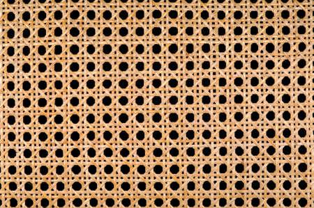 Wicker detail of intertwined patterns