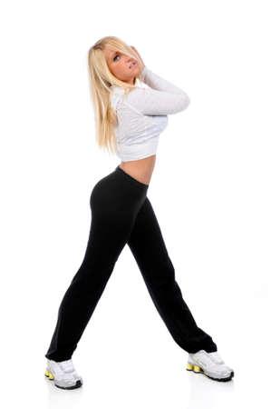 Beautiful young woman posing during dance performance Stock Photo - 7887518