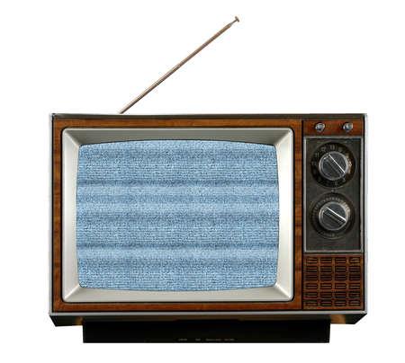 전자 눈을 생산하는 신호없는 빈티지 텔레비전