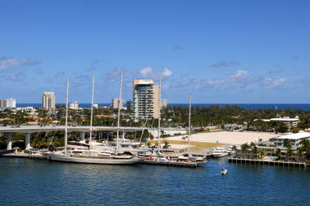View of Fort Lauderdale Water front during bright day photo