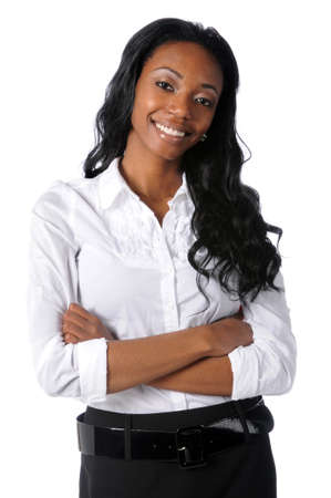 Portrait of young African American businesswoman with arms crossed Stock Photo - 7888413