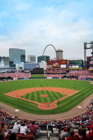 louis: ST LOUIS - MAY 23: Busch Stadium home of the Saint Louis Cardinals and site of the 2009 All Star Game during game against the Kansas City Royals in St. Louis, MO on May 23, 2009