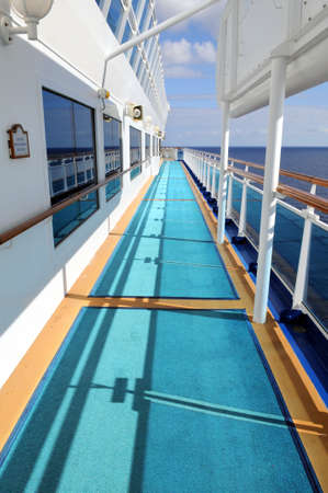 Side deck of cruise ship during sunny day Stock Photo - 7903650