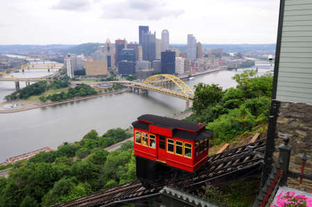 incline: View of the city of Pittsburgh from the Duquesne Incline Stock Photo