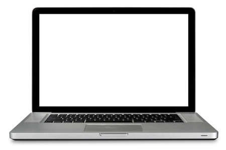 laptop: Modern laptop computer isolated over white
