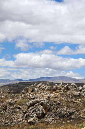 Rocky landscape in the northern Andes of Peru near Cajamarca photo