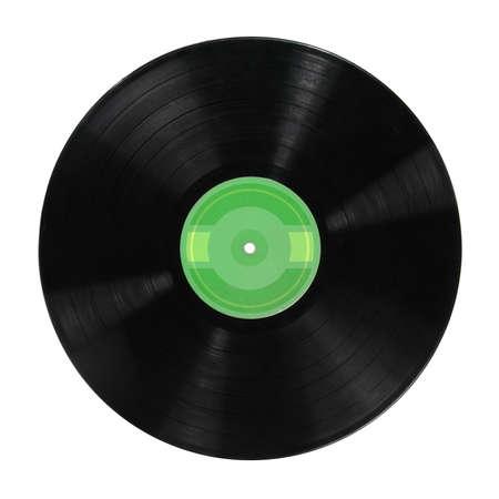 Record vinyl album isolated over white background photo