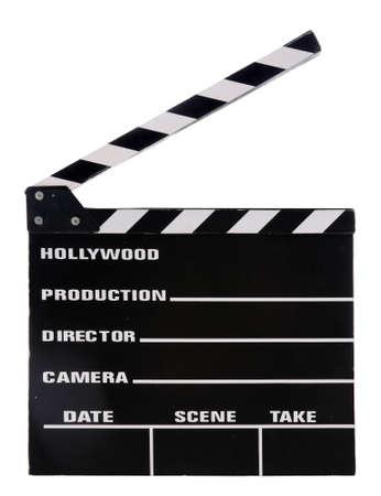 Film klepel board geïsoleerd op witte achtergrond