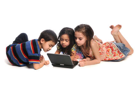 Children watching movie on DVD player
