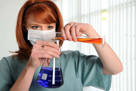 Lab technician working in laboratory Stock Photo - 8110408