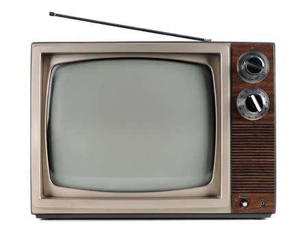 안테나가있는 빈티지 텔레비전 스톡 콘텐츠
