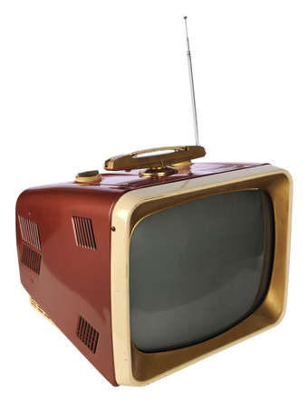 Vintage television Stock Photo - 8110715