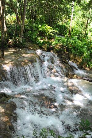 Dunn River water falls in Ocho Rios Jamaica photo