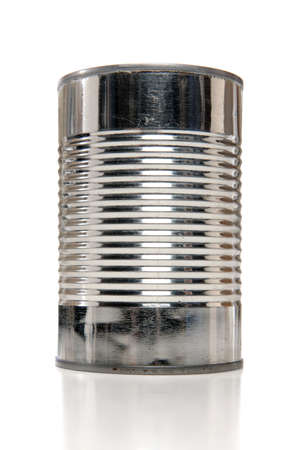 Tin can over white background Stock Photo - 8130647