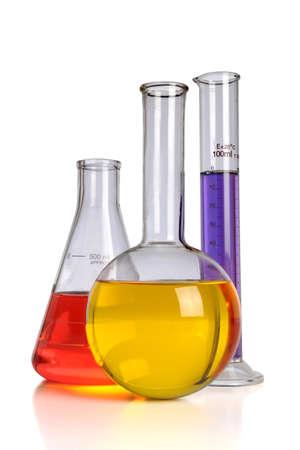Laboratory glassware isolated over white background Stock Photo - 8204799