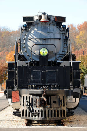 Vintage locomotive engine photo