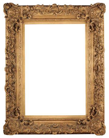 Golden frame vintage isolé sur fond blanc Banque d'images - 8410650