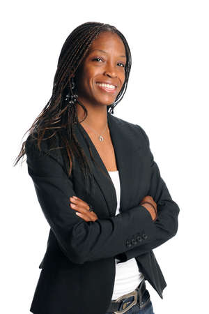 black secretary: Portrait of African American businesswoman smiling