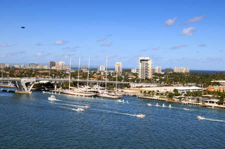 ft lauderdale: Port of Fort Lauderdale during sunny day