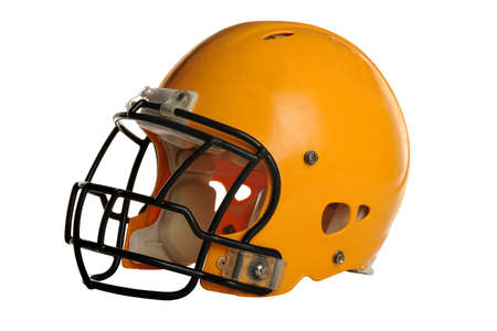 Football helmet isolated over white background Stock Photo - 15122829