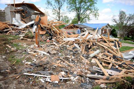 fema: SAINT LOUIS, MISSOURI - APRIL 26: Destroyed homes after tornados hit the Saint Louis area on Friday April 22, 2011 Editorial