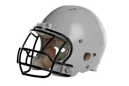 athletic gear: Football helmet isolated over white background