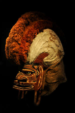 horrific: 19th century Tatanua ceremonial mask from Northern New Ireland Island Stock Photo