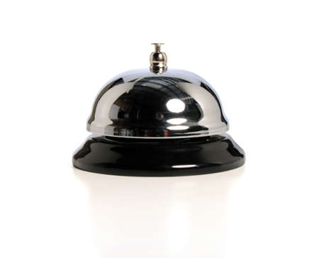 Service bell isolated over white background- With clipping path