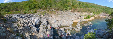 ins: Paroramic view of Johnson Shut Ins in Missouri - Stitched from several images Stock Photo