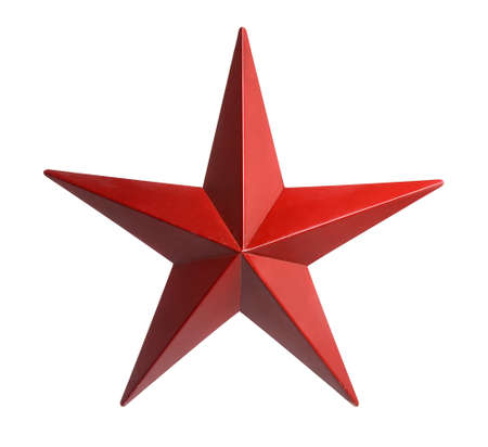 Painted red star isolated over white background Stock Photo - 15705145