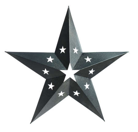 Three dimensional star isolated over white background