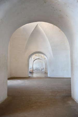 archways: Three archways in Castillo San Cristobal, San JUan Puerto Rico