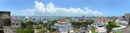 san juan: Old San Juan Puerto Rico viewed from San Cristobal fort - Stitched from 5 images