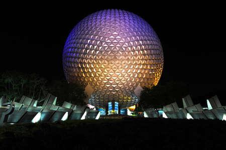 ORLANDO, FLORIDA - JUNE 06, 2012: Disneys EPCOT Center sphere