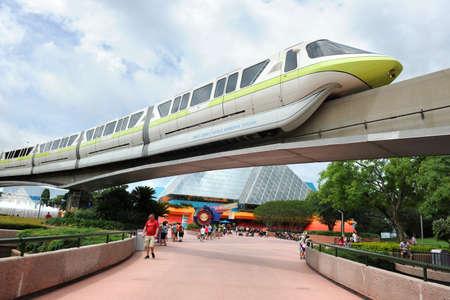 ORLANDO, FLORIDA - JUNE 13, 2012: Disneys EPCOT Center sphere Editorial